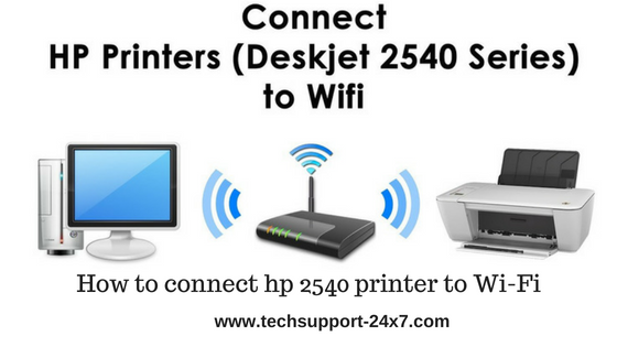 How to connect hp 2540 printer to Wi-Fi