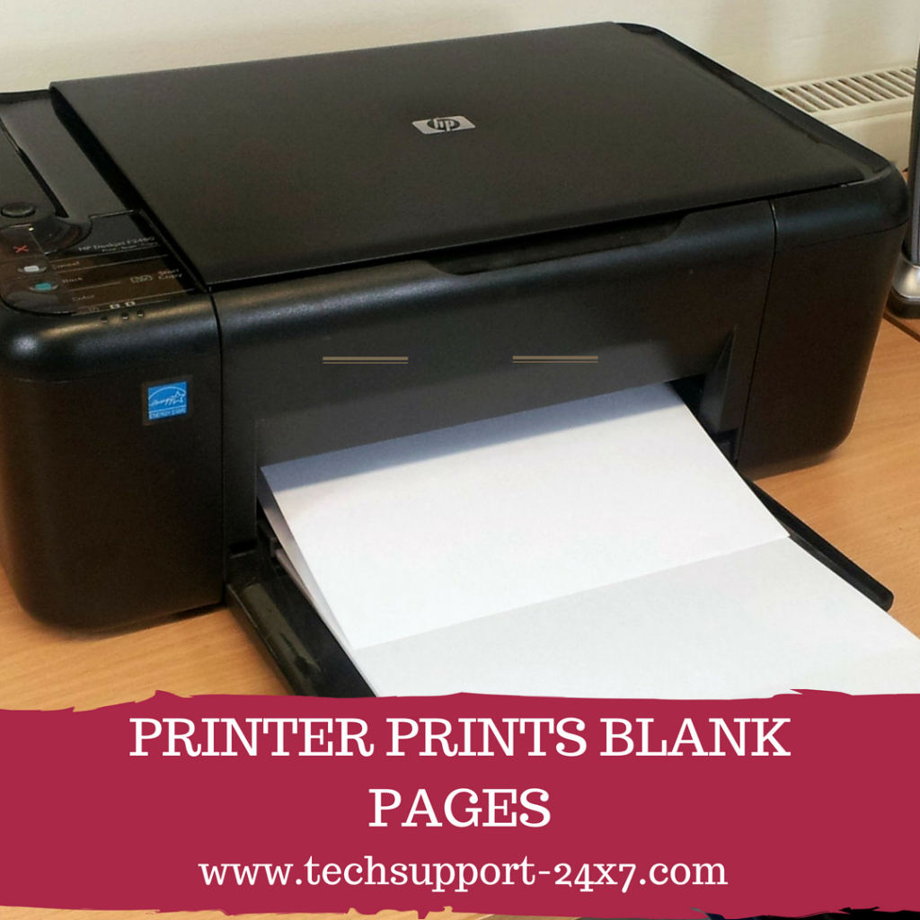 printer prints blank pages