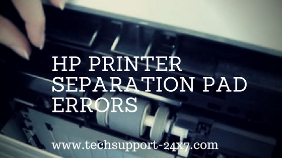Hp printer separation pad errors