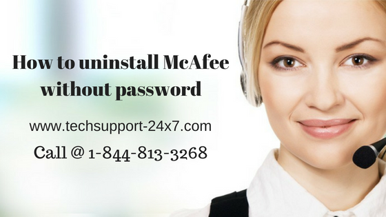 uninstall McAfee without password