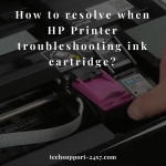 HP Printer troubleshooting ink cartridge