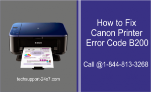 Canon Printer Error Code B200