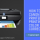 canon printer not printing color correctly