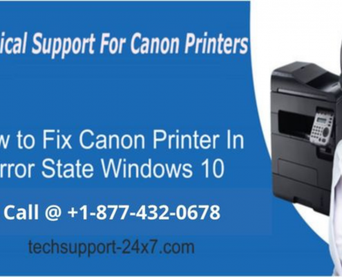 [RESOLVED] HOW TO FIX CANON PRINTER IN ERROR STATE WINDOWS 10?