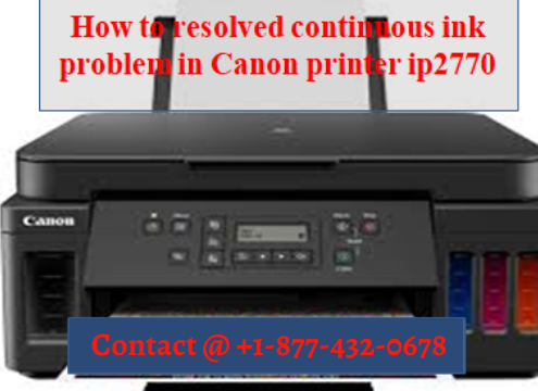 [SOLVED] HOW TO RESOLVE CONTINUOUS INK PROBLEM IN CANON PRINTER IP2770 ?