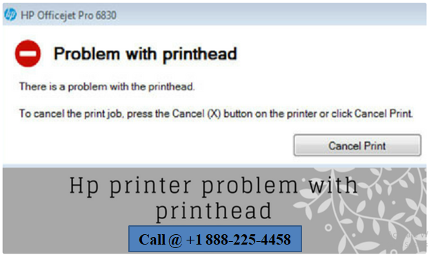 Hp printer problem with printhead