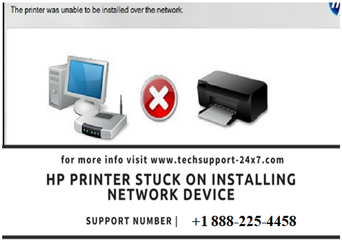 Hp Printer stuck on installing network device