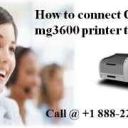 How to connect Canon mg 3600 printer to Wifi