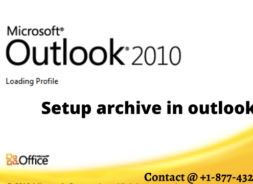 setup archive in outlook