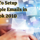 setup multiple email account in outlook