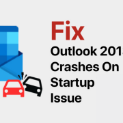 Outlook 2013 crashing on startup issue