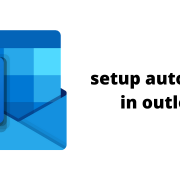 setup auto reply in outlook