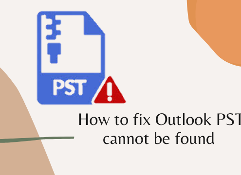 outlook pst cannot be found